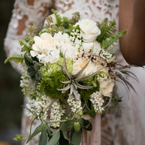 Green wedding bouquets bouquet with white flowers and greenery mightylinksfo Images