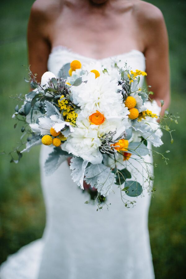 Yellow wedding bouquets diy white yellow and mint textured bridal bouquet mightylinksfo