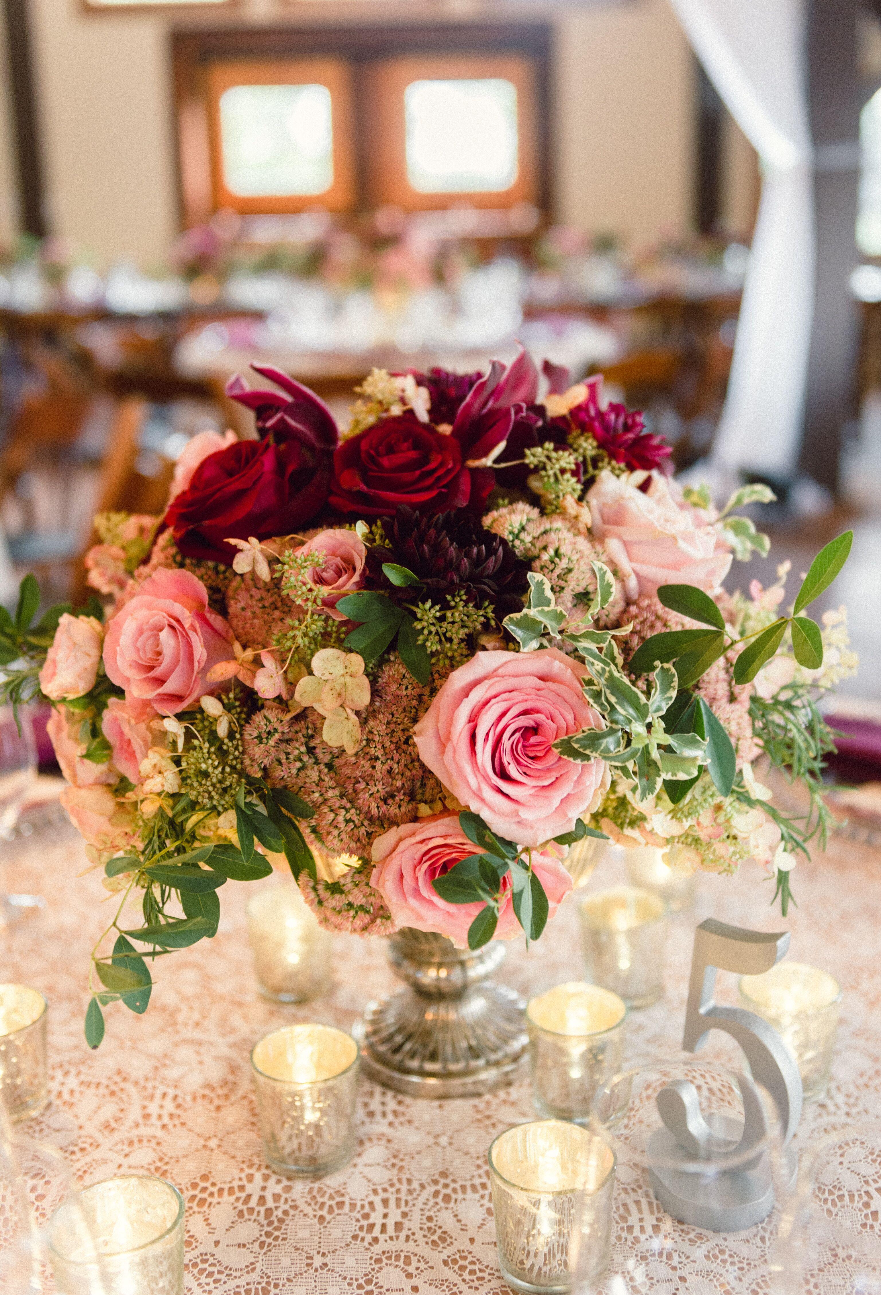 Pedestal vase centerpieces with roses dahlias and sedum reviewsmspy