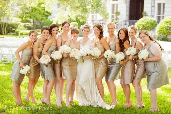 Bronze Maid of Honor Dresses