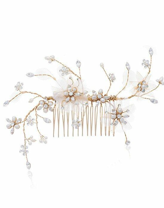 Thomas Laine Cherri Bendable Comb with Freshwater Pearl and Crystals Wedding Pins, Combs + Clips photo