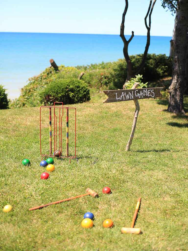 Lawn croquet game idea