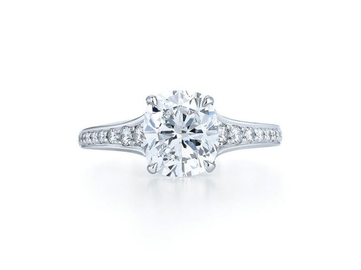 kwiat cushion cut engagement ring