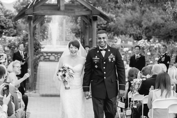 A sergeant in the U.S. Army, Roshan dressed in his formal military attire for the wedding.