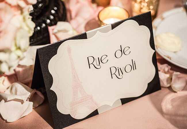 French Table Names: Photography by Rebecca / TheKnot.com