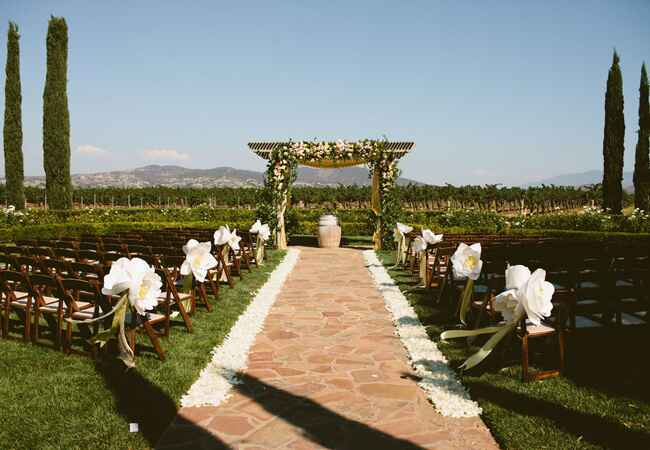 Outdoor Ceremony Space // John & Joseph Photography // Planner: Details Details // Location: Ponte Winery