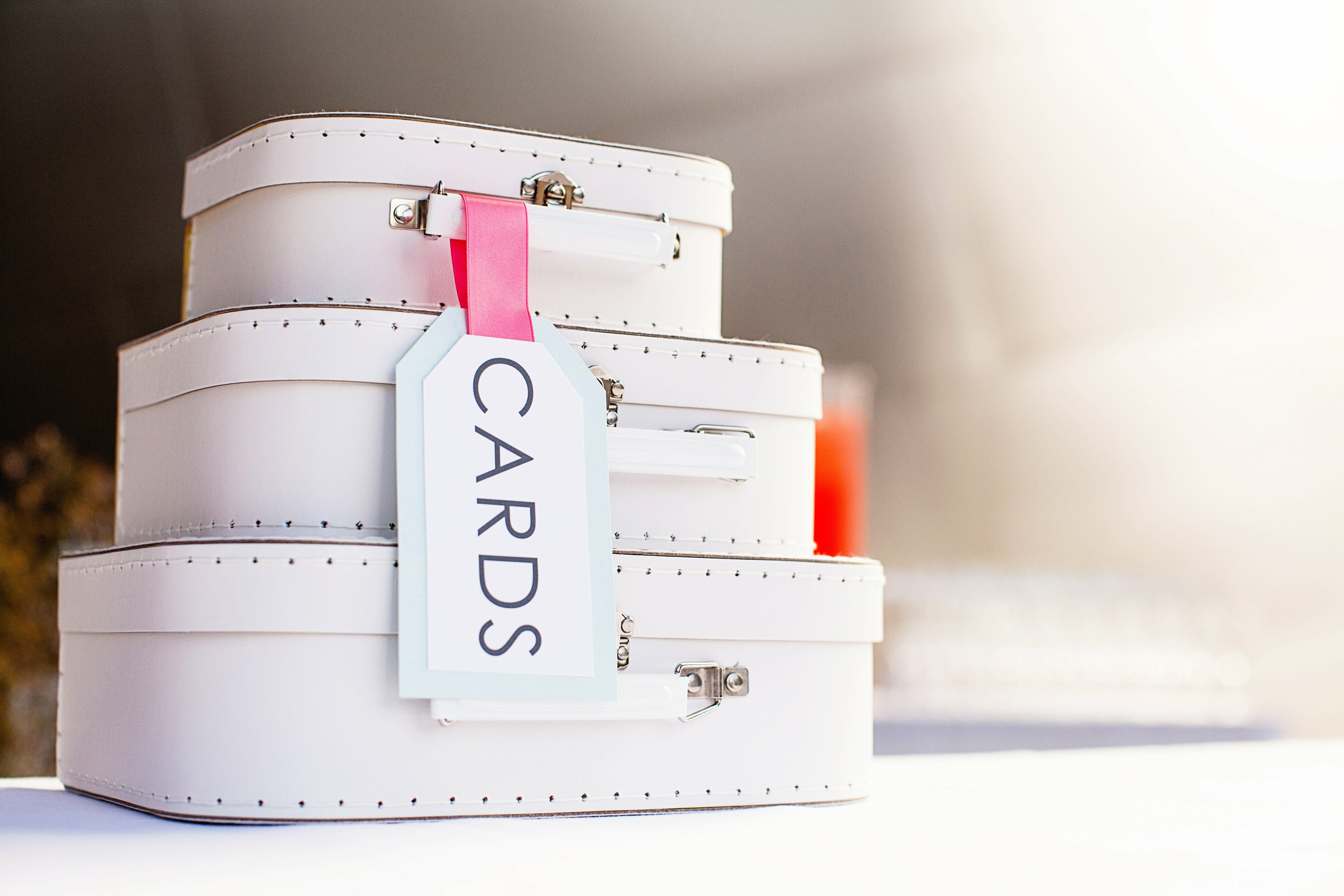 Travel Themed Suitcase Card Box