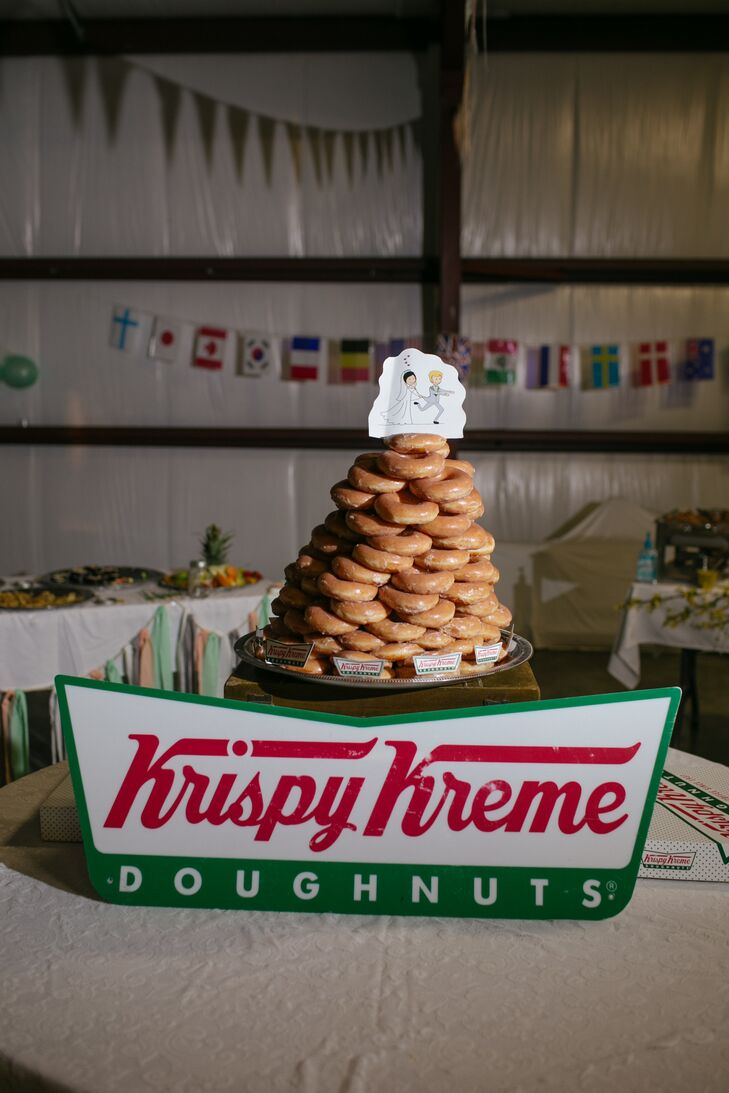 Krispy Kreme Doughnut Tower Wedding Cake