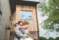 Jaryn Proto (27 and an art teacher) and Mark Proto (28 and a machinist) had a rustic, summer wedding at Rose Bank Winery in Newtown, Pennsylvania. The
