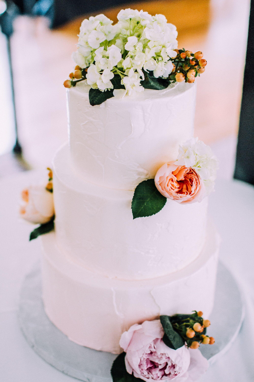 Simple Rose Garden: Simple Garden Rose Wedding Cake