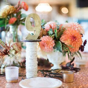 Diy wedding centerpieces diy wood spool table numbers junglespirit Images