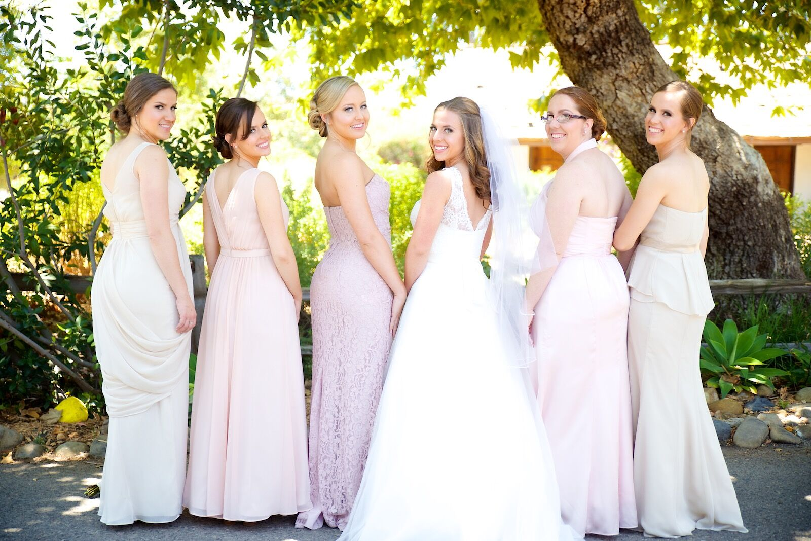Pastel Floor Length Bridesmaid Dresses