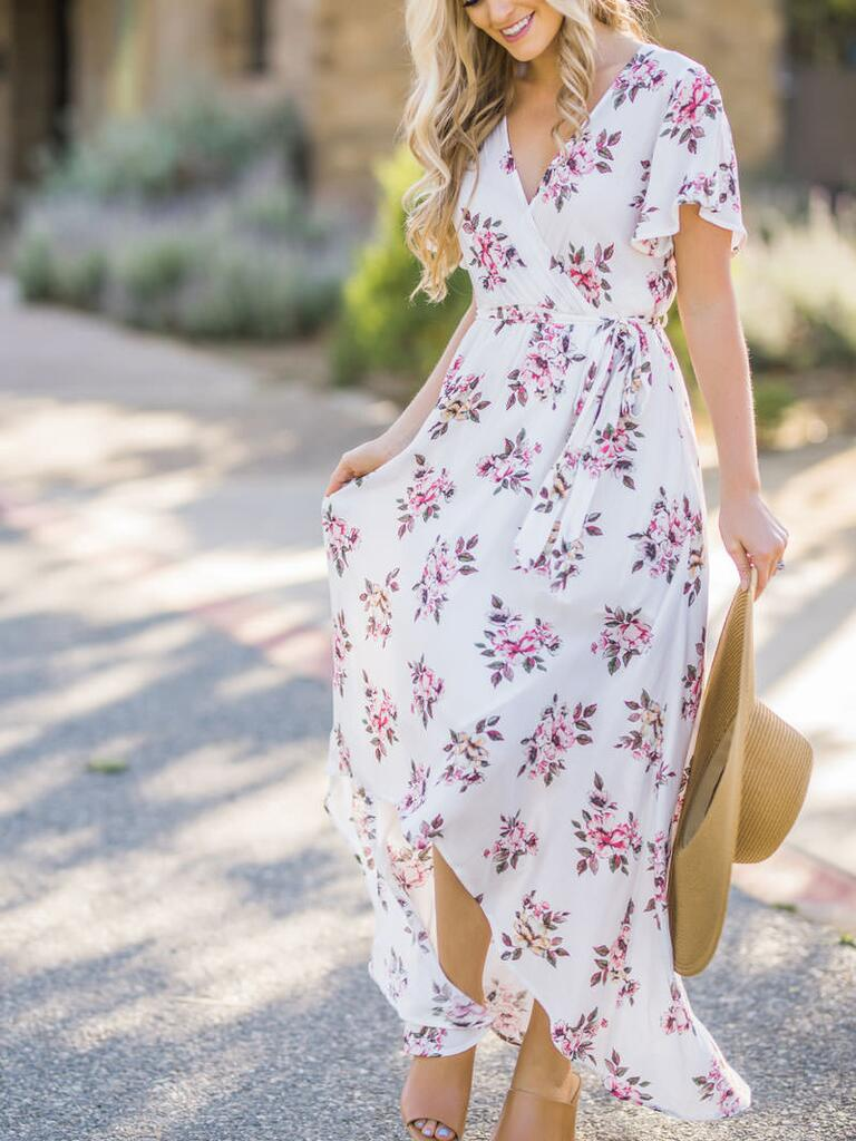 15 floral dresses perfect for summer wedding guests for Maxi dress to wear to wedding
