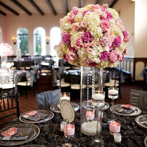 how to decorate a wedding reception white hydrangea and centerpiece 4909