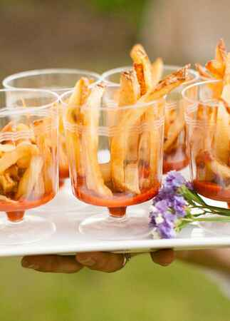 French Fries Appetizers | Larissa Cleveland Photography | TheKnot.com