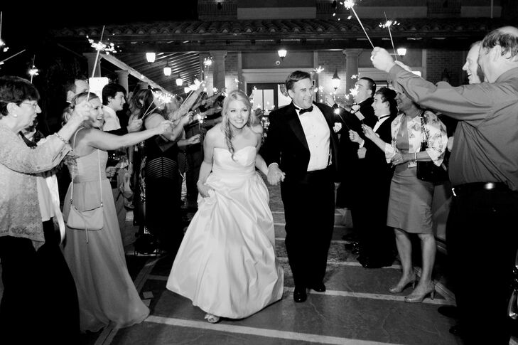 Andrea and Jay capped off their magical evening with a grand sparkler exit.