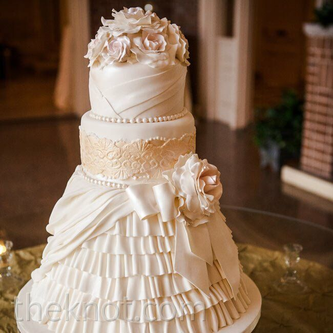 fondant fabric wedding cake