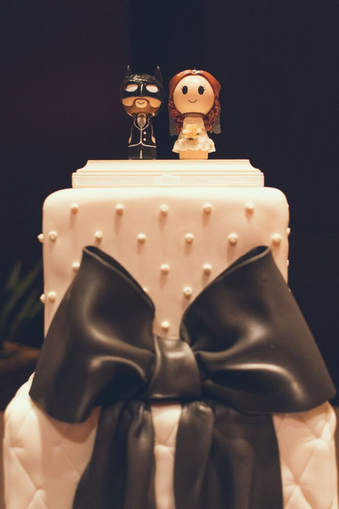 Custom Bride And Batman Wedding Cake Topper
