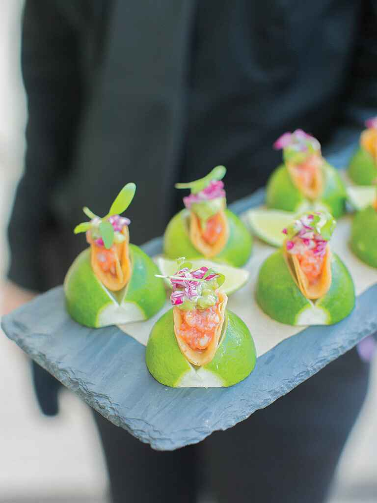 Comfort food for a creative wedding reception menu idea