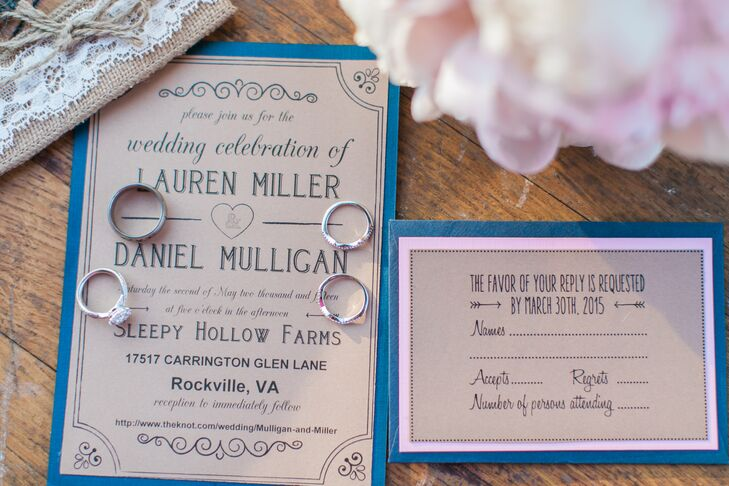 DIY Kraft Paper Wedding Invites