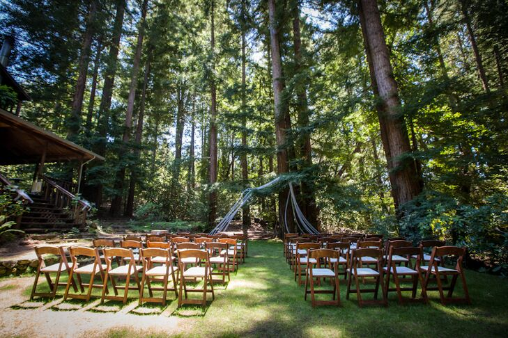 A Rustic Forest Wedding At Redwood Croft Bed And Breakfast In Santa Cruz California