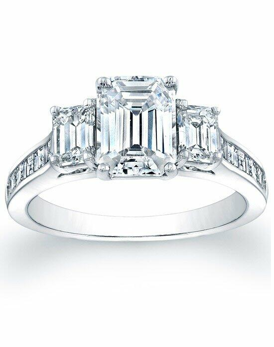 Since1910 Three Stone Emerald Cut Engagement Ring with Square Emerald Channel-Set Side Stones Engagement Ring photo