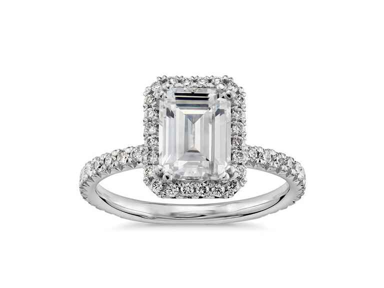 Blue Nile Emerald Cut Engagement Ring