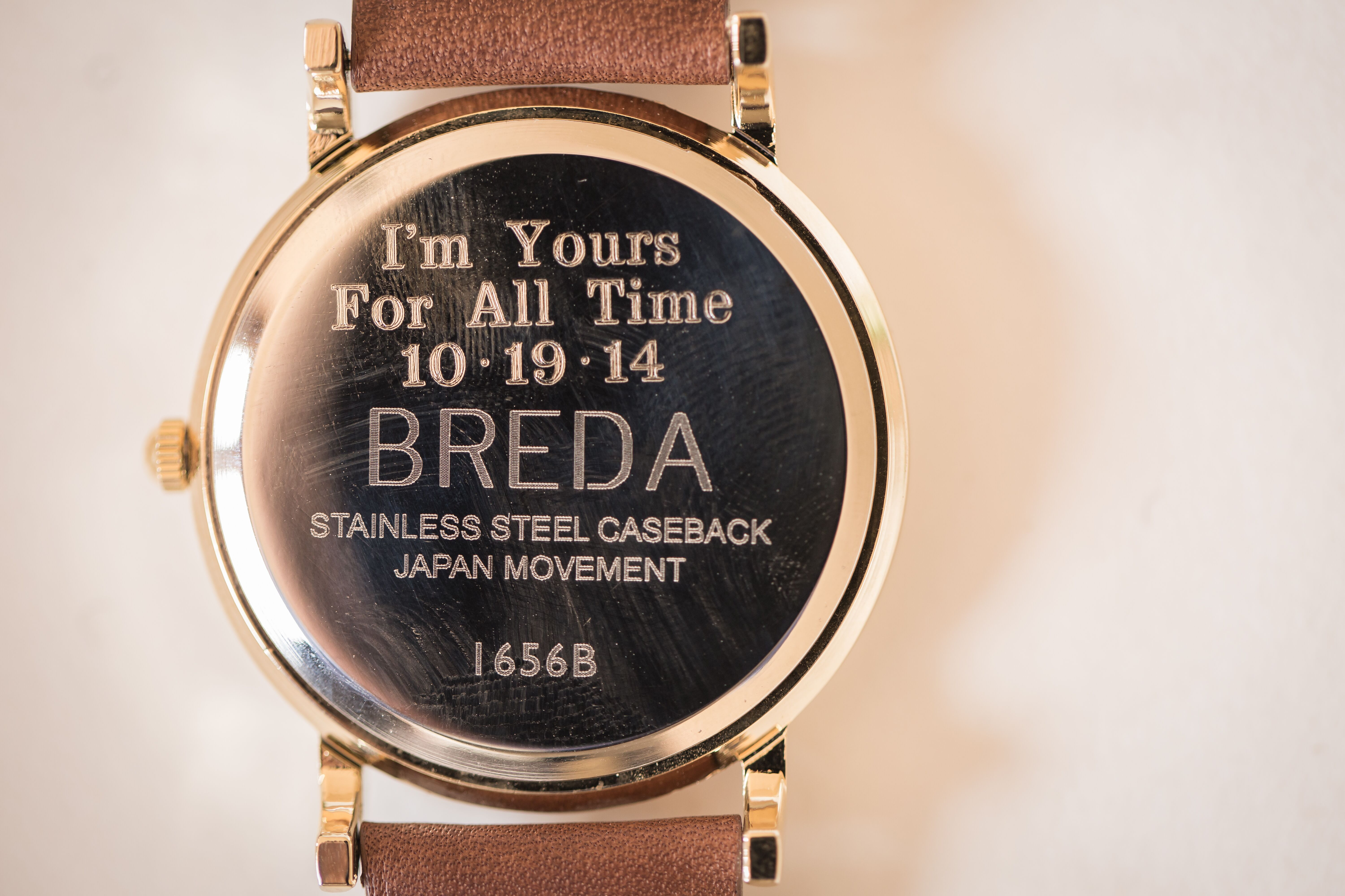 What To Engrave On Wedding Gift For Husband : An Engraved Watch for a Grooms Gift