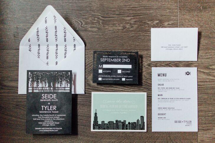 chicago themed wedding invitations