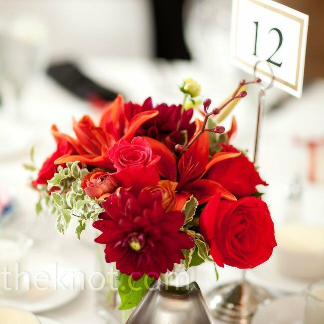 Red Floral Centerpieces - photo#40