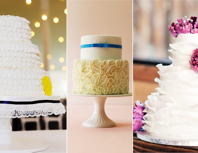 Ruffled wedding cake trend