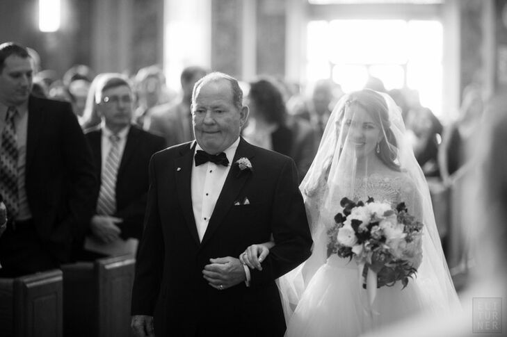 Bride with Her Father at DC Processional