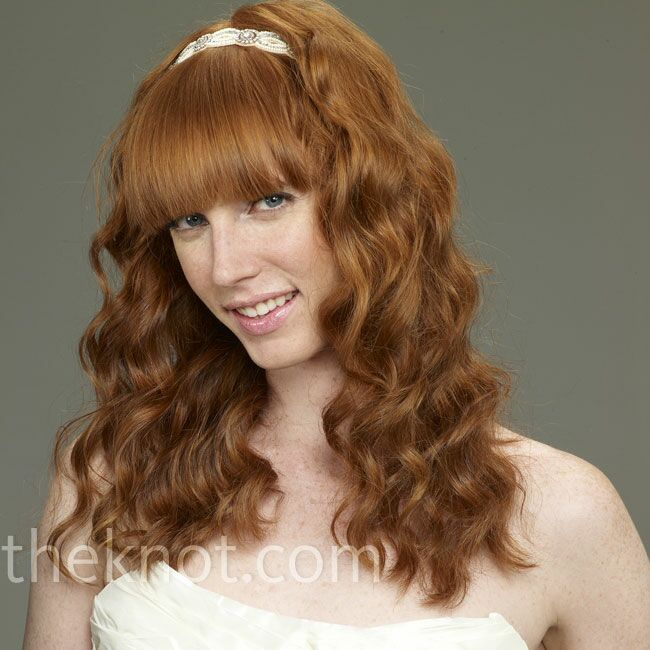 curly wedding down hairstyle