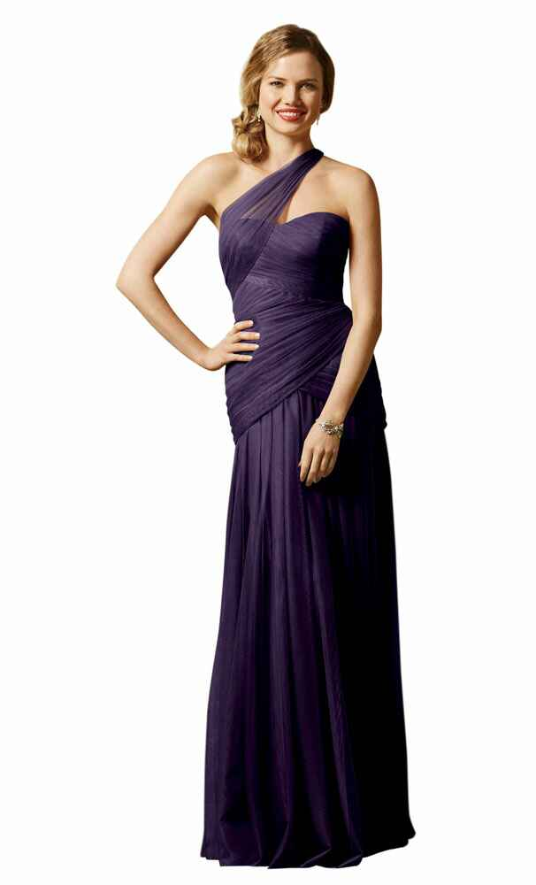 purple bridesmaid dress by Wtoo Maids