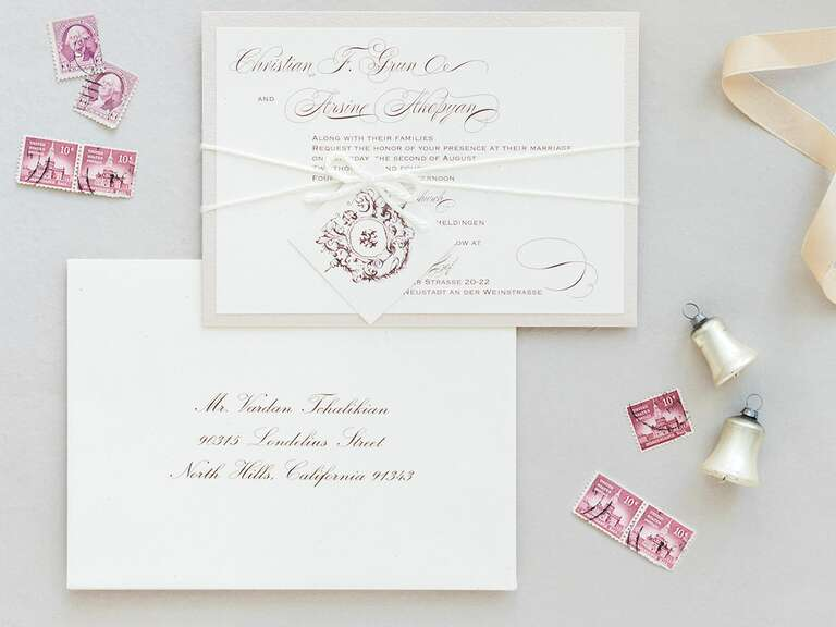 Invitations paper ideas advice 6 postage tips for wedding invitations stopboris Image collections