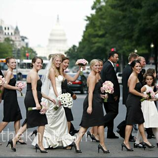 Real Black Bridesmaid Dresses