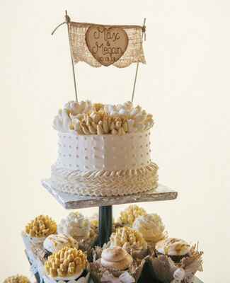 single layer white gold cake |<img class=