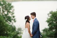 For their later summer wedding, Hannah Yu (34 and an anesthesiologist) and Ed Tolson (35 and a hedge fund technologist) headed to Buttermilk Falls Inn