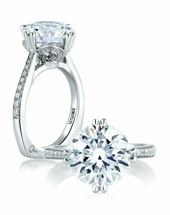A.JAFFE Exclusive Round Statement Engagement Ring, MES421 Engagement Ring photo