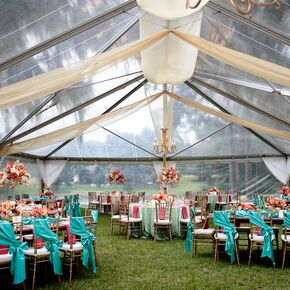 Clear Tented Wedding Reception At Rose Hill Mansion