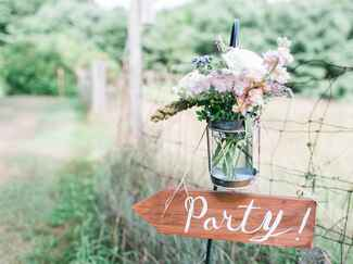 Sign for the wedding party