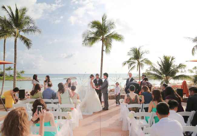 waterfront ceremony | Cristina Elena Photography | Blog.theknot.com