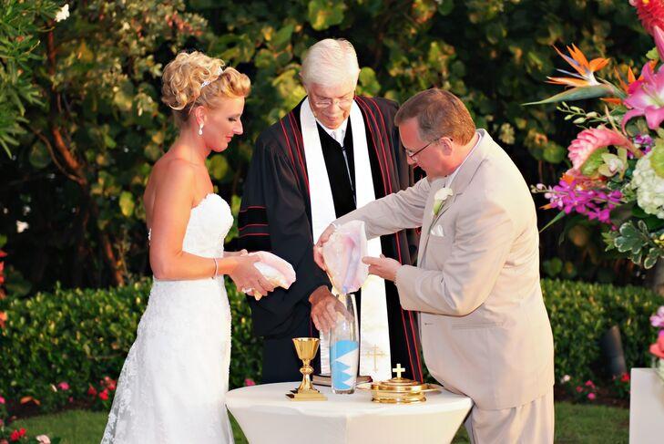 Unity Sand Ceremony Tradition With Seashells