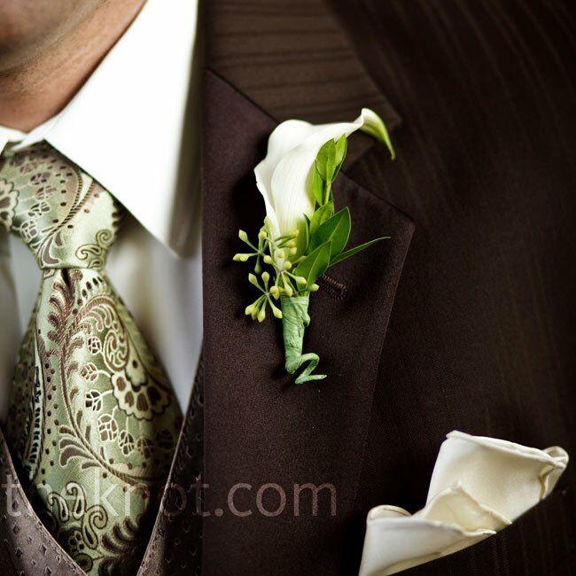 Ivory Wedding Boutonniere