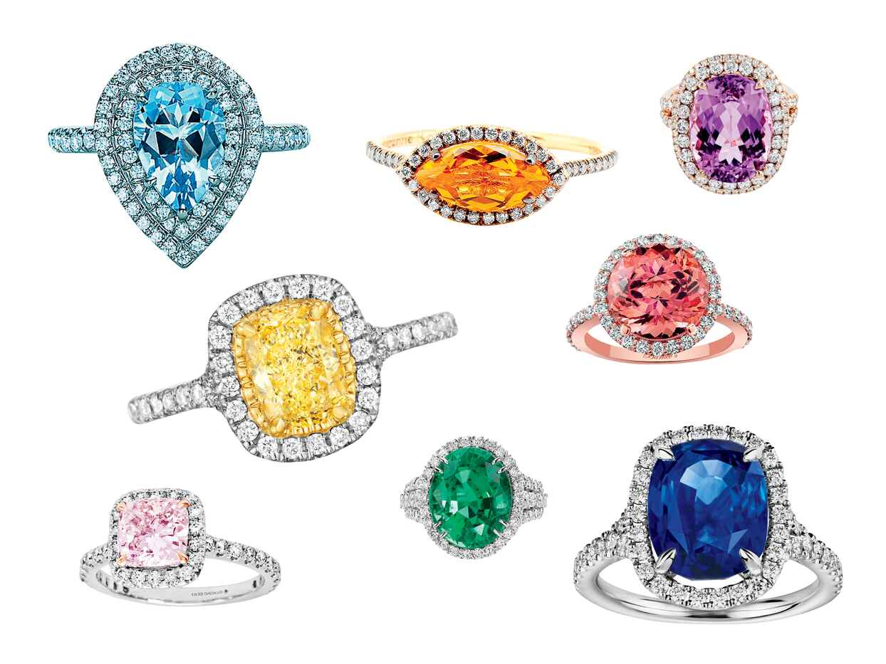 You'll Be Obsessed With These Colorful Engagement Rings