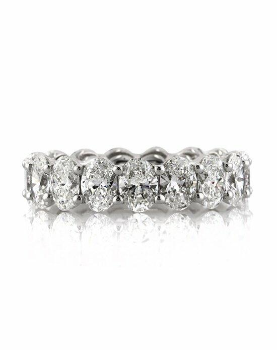 Mark Broumand 5.40ct Oval Cut Diamond Eternity Band Wedding Ring photo