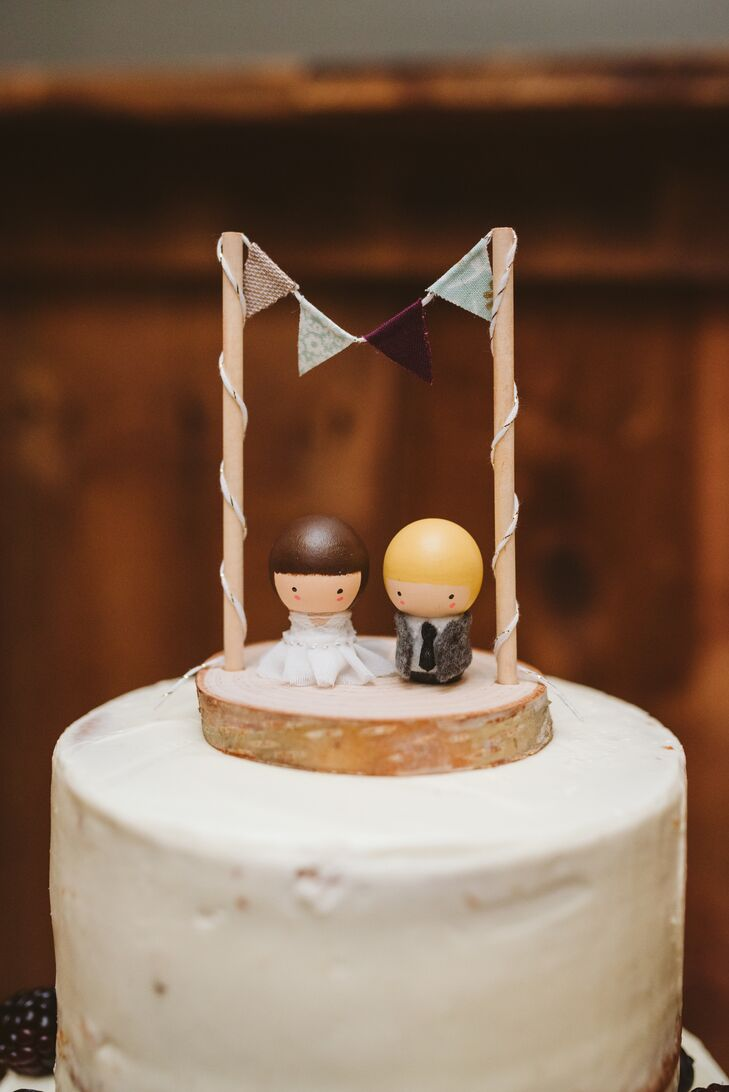 Playful Wooden Cake Topper