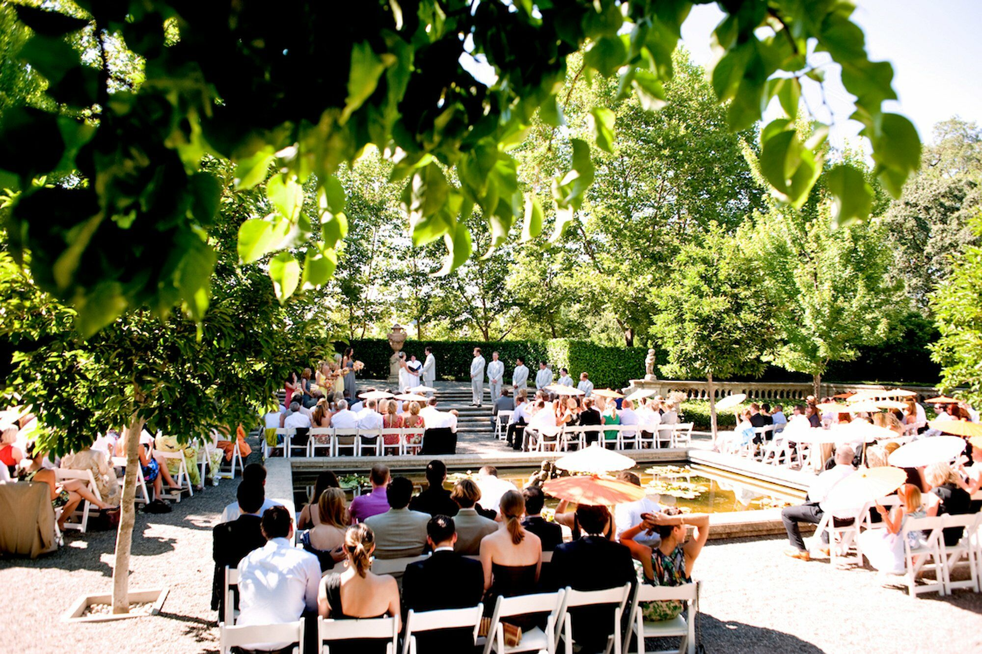a casual garden wedding in rutherford ca