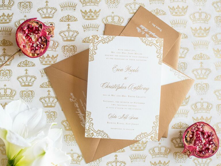 Calligraphed wedding-invitation envelopes