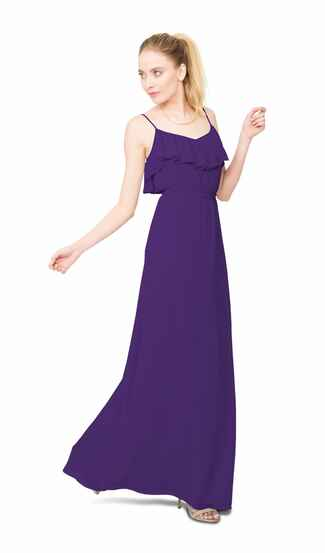 purple bridesmaid dress by Joanna August
